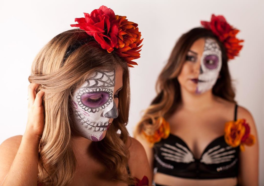 Día de Los Muertos photoshoot with the best friend (photo by Warren Marshall Photography)