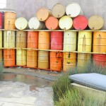 "These colorful wine barrels provided such a beautiful backdrop to ""The Lab."""