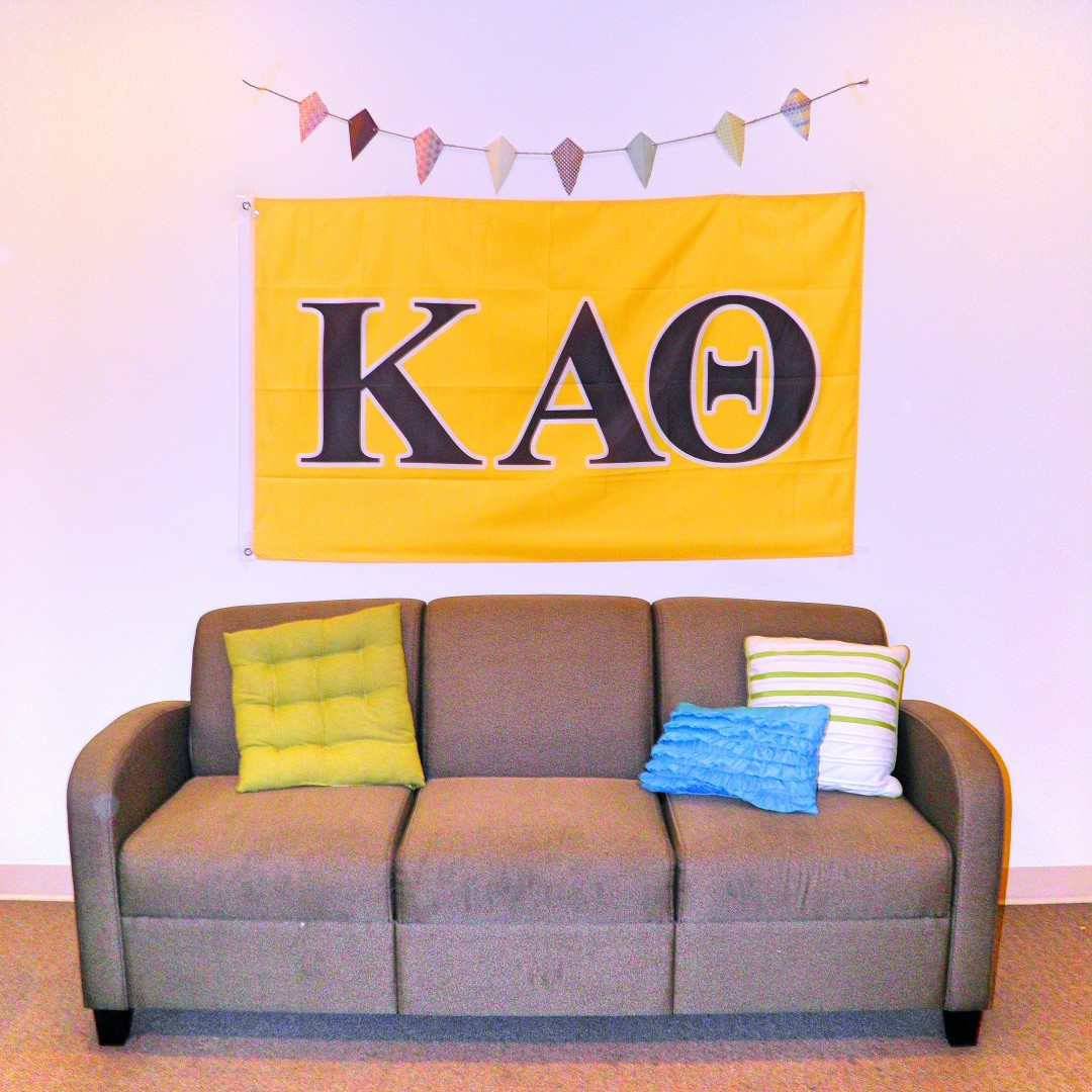 Kappa Alpha Theta flag from Greek Life Stuff