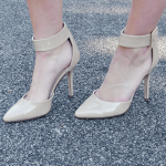 Nude pointy heels