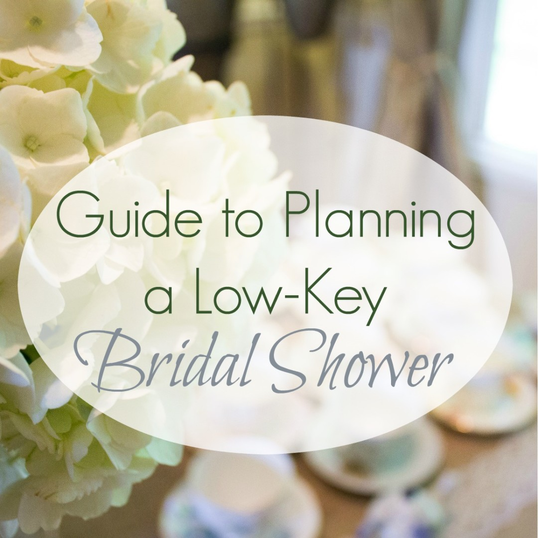 How to plan a low key bridal shower square