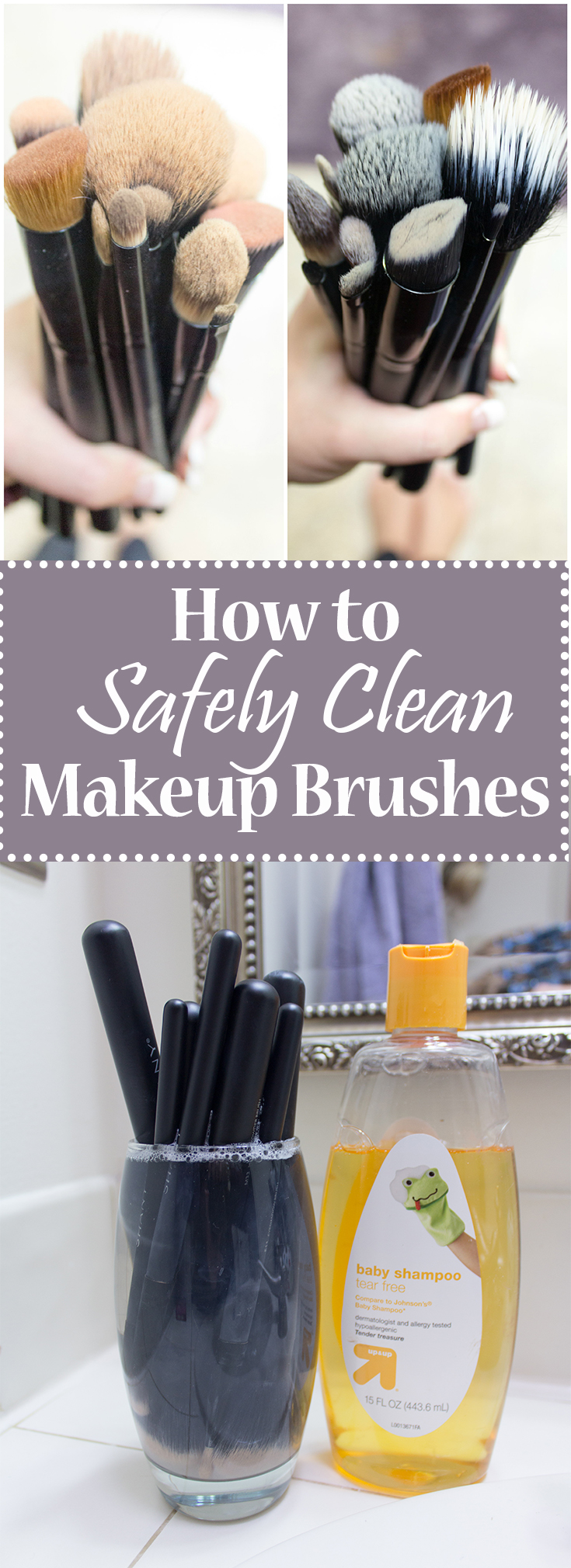 This guide walks you through step by step how to wash and clean your makeup brushes safely at home with baby shampoo