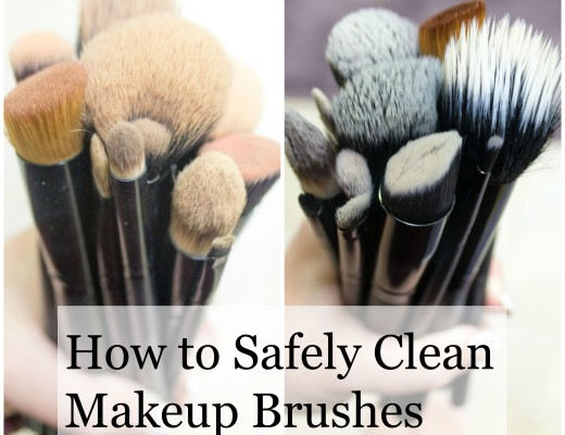 how to clean makeup brushes safely with baby shampoo graphic