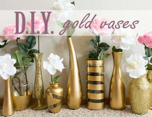 DIY Gold Vases